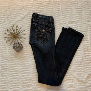 Like New Rock Revival Boot Cut Blue Jeans Size 28